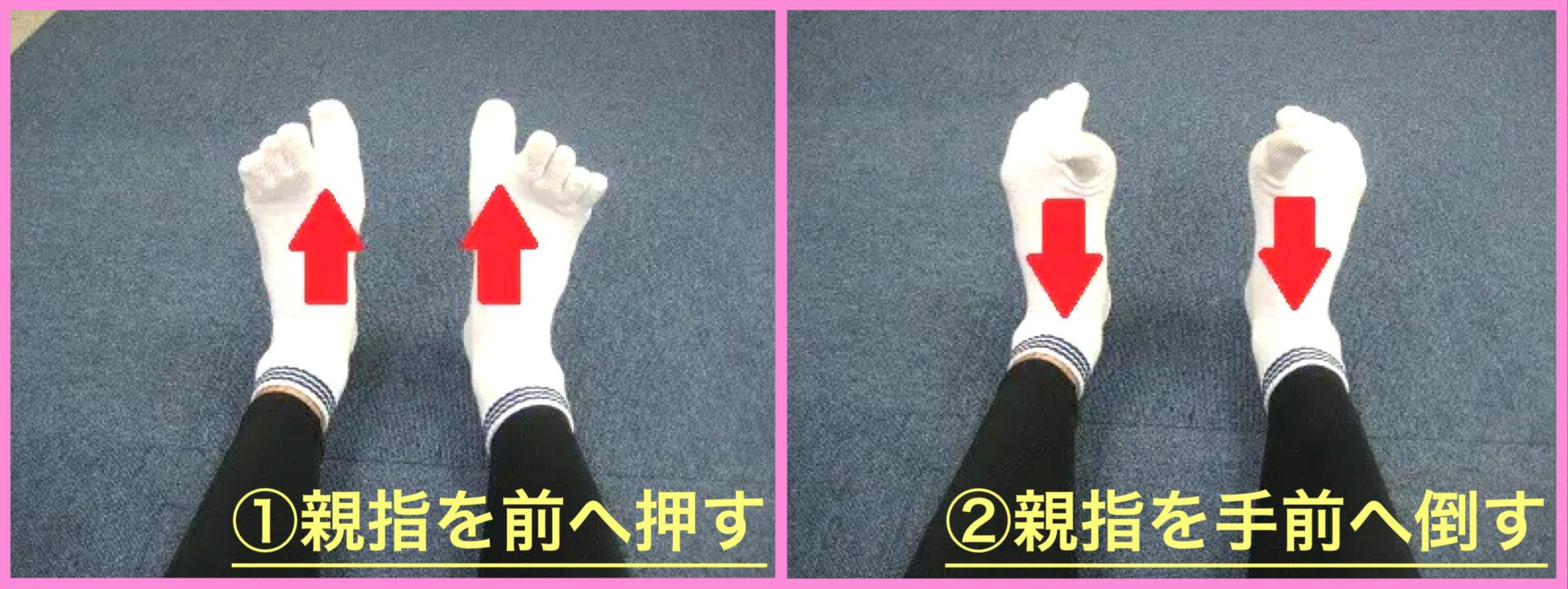 ふくらはぎが細くならない女性向けのエクササイズとして、足指エクササイズで親指を前後に動かす種目を写真でご紹介|ミスリル名古屋